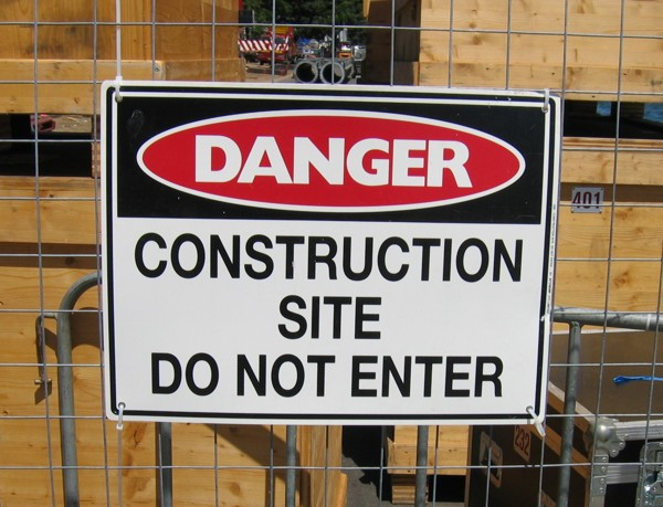 Sign of Construction Site in Sydney/Australia